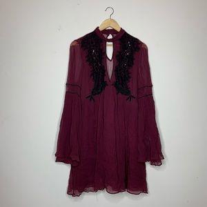Free People Embellished Dress, sz. 10